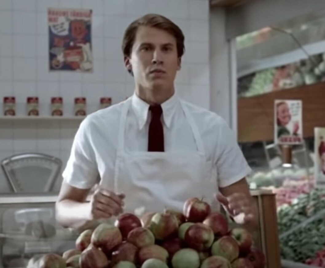 Jacob Falkman i en Ica-reklam