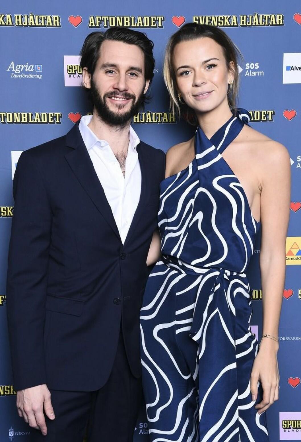 Margaux Dietz och ex-maken Jakob Liebermann på röda mattan