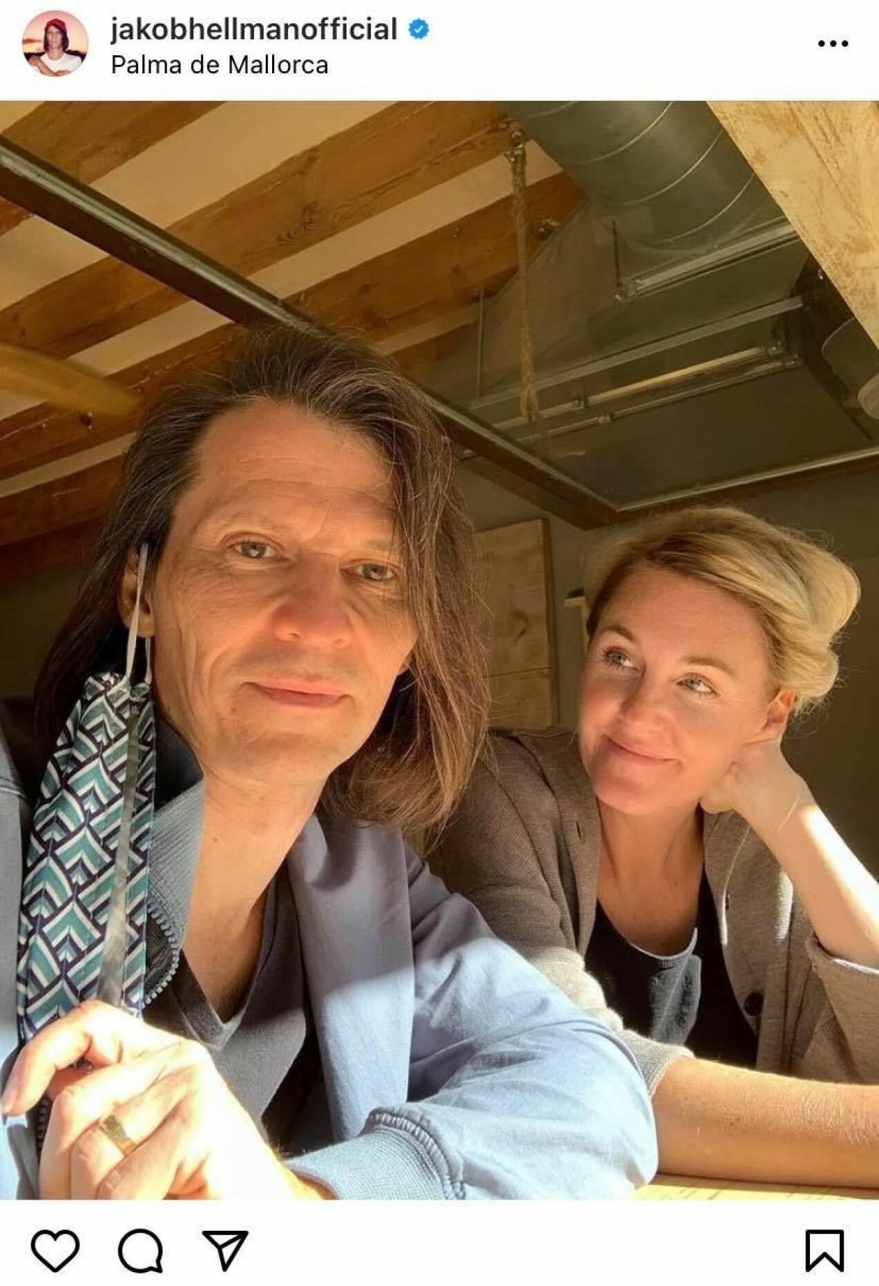 Jakob Hellman och frun Karolina