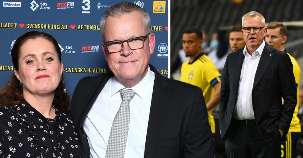 Janne Andersson med hustrun Ulrika