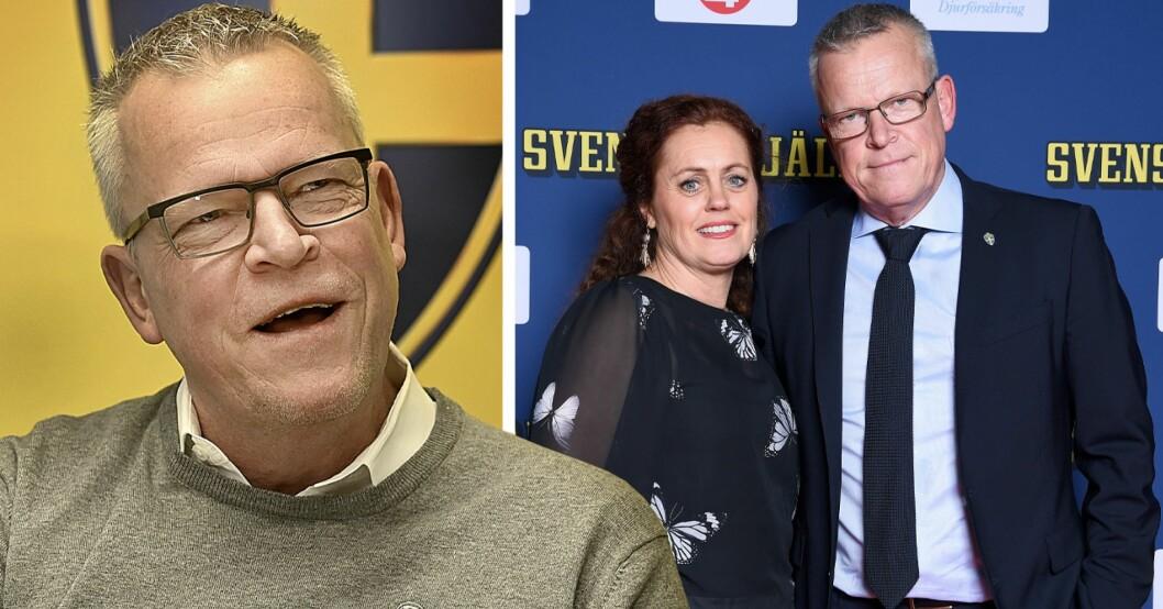 Janne Andersson och frun Ulrika