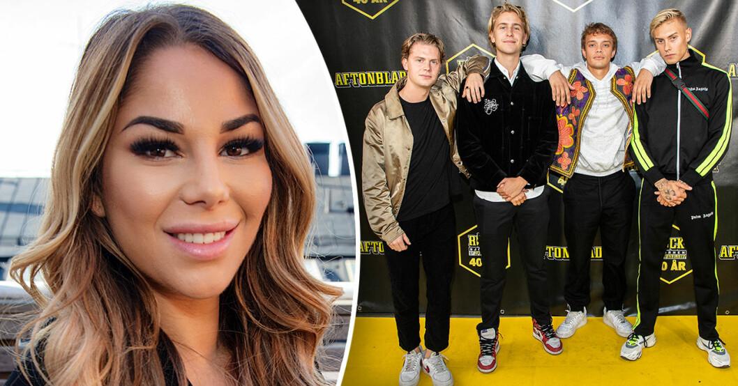 Jasmine Gustafssons om relationen med Lydwig Kronstrand