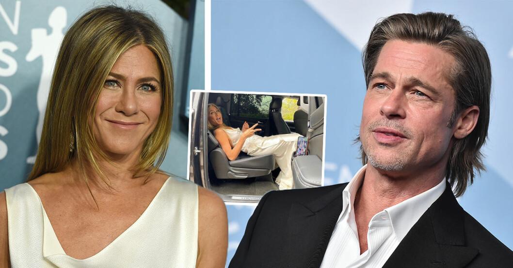 Jennifer Anistons avslöjande bild – efter intima mötet med Brad Pitt