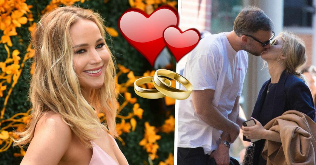 Jennifer Lawrence bröllopslycka