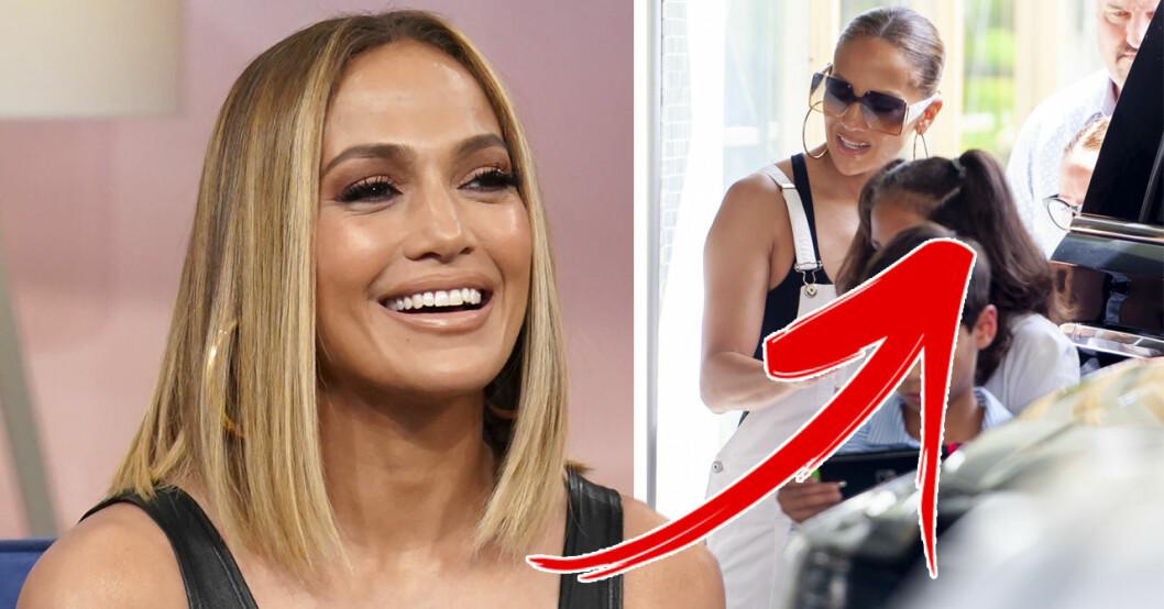 Jennifer Lopez visar upp 11-åriga tvillingarna Emme och Max Muñiz.