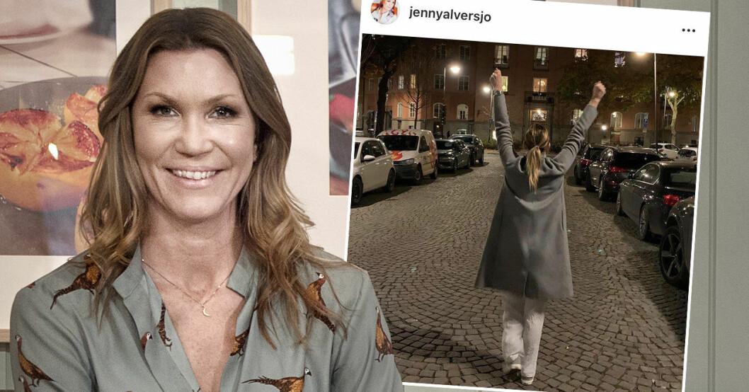Jenny Alversjö blev coronasjuk, men är på väg tillbaka nu.