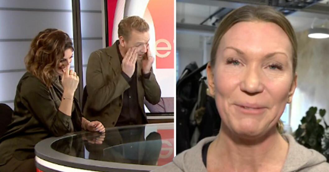 Jenny Alversjö i tårar