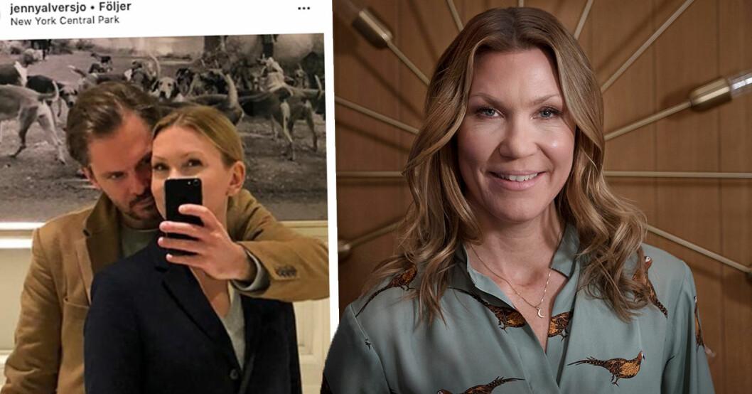 Jenny Alversjös hyllning till sambon – efter allvarliga sjukdomen