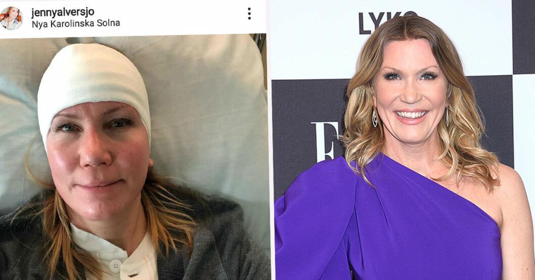 Jenny Alversjö på sjukhus.