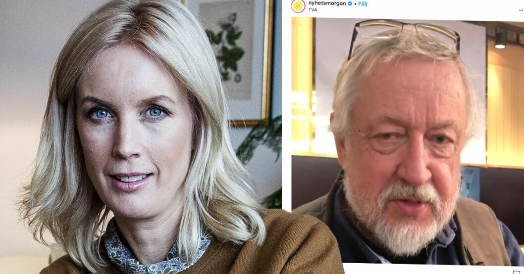 Jenny Strömstedt pikas av Leif GW Persson i Nyhetsmorgon