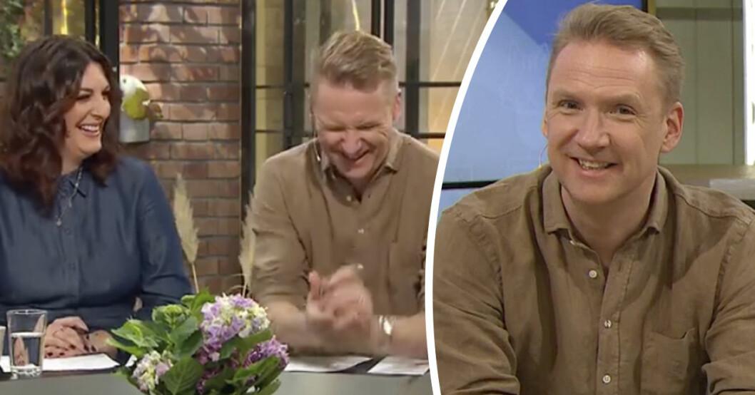Jesper Börjessons pinsamma miss i Nyhetsmorgon på TV4.