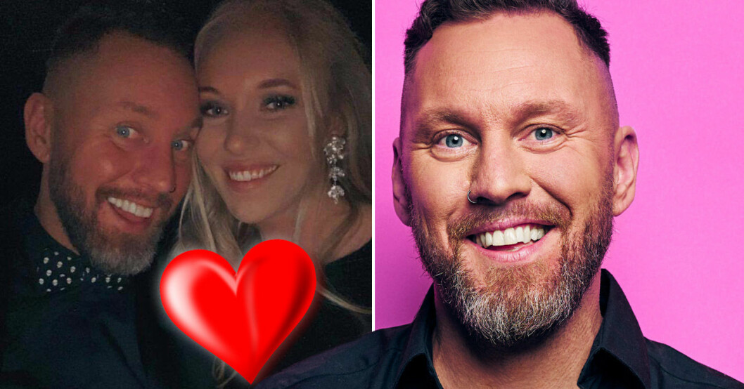 Jesper Fröidh och flickvännen Emma Pihl.