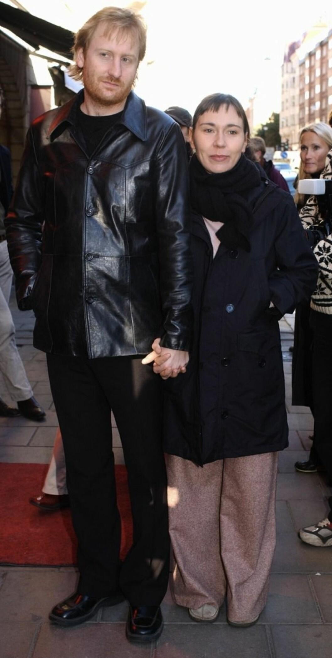 Gustaf Hammarsten och Jessica Liedberg på röda mattan 2002