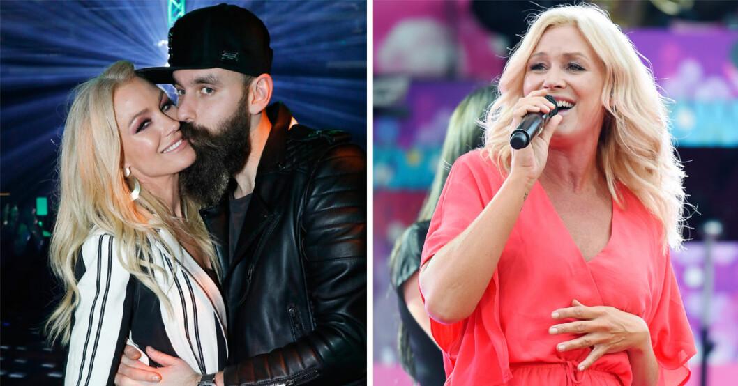 Jessica Andersson och pojkvännen Johan Malm ryktas vänta barn, nu svarar sångerskan på gravidryktet.
