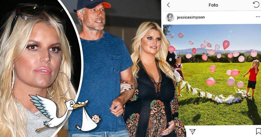 Jessica Simpson avslöjade igår att hon och maken Eric Johnson väntar sitt tredje barn, en dotter.