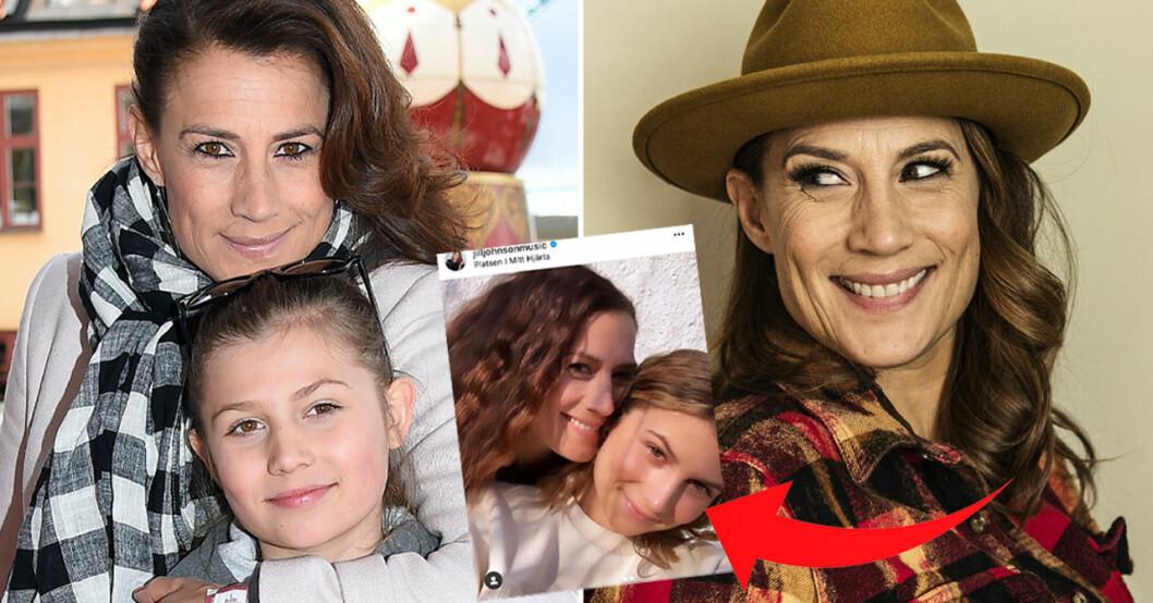 Jill Johnson med dottern Havanna