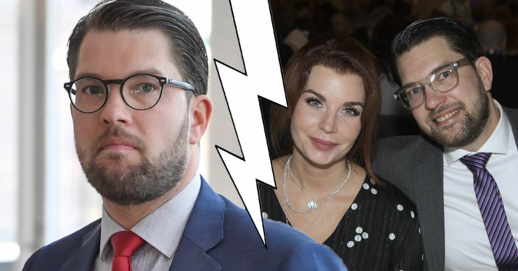 Jimmy Åkessons och sambon Louise Erixon separerar