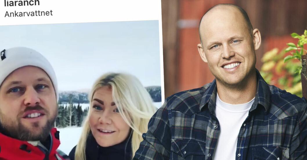 Jimmy Olsson och Emelie Åströms kärlekslycka efter Bonde söker fru 2019.