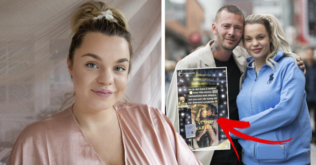 Jonna Lundell avslöjar sanningen bakom avklädda bilden med maken Joakim.