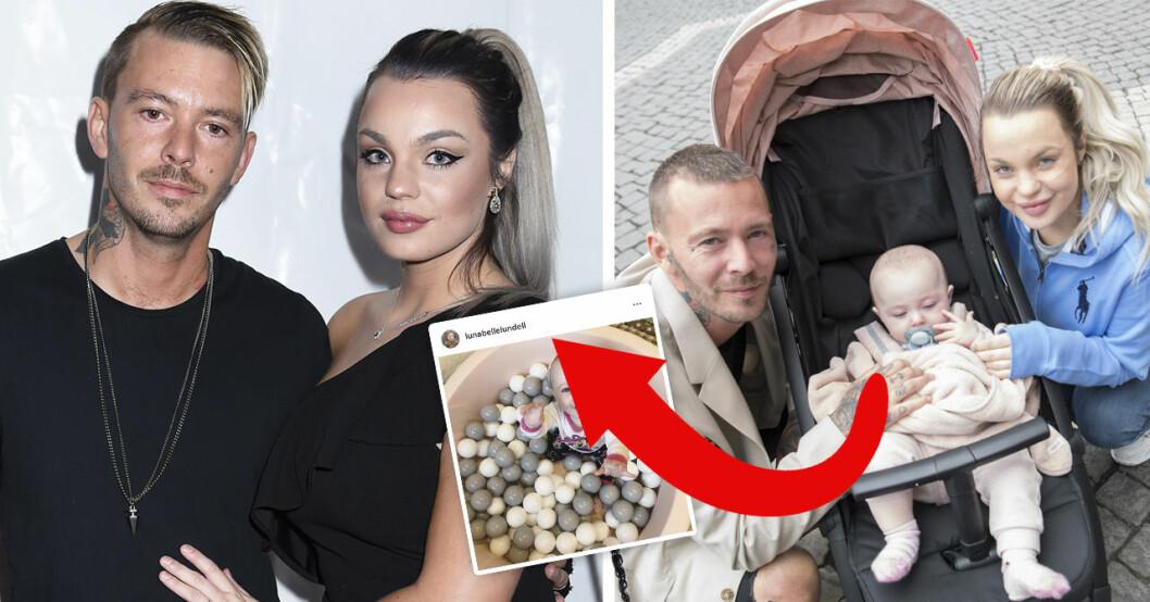 Joakim och Jonna Lundells fans tappar hakan över att dottern Lunabelle blivit så lik pappa Jocke.