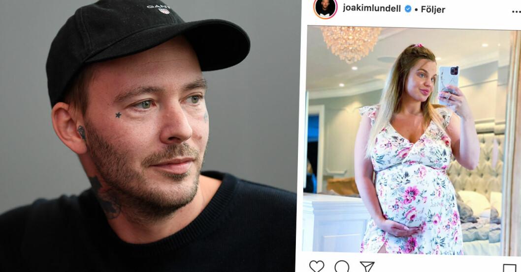 Joakim Lundell bryter tystnaden – stöttas för starka orden om Jonna veckor före förlossningen