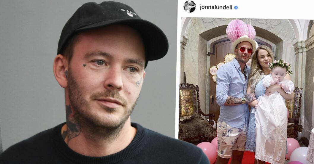 Joakim Lundells syrliga pik till Jonna om kostanden för Lunabelles dop.