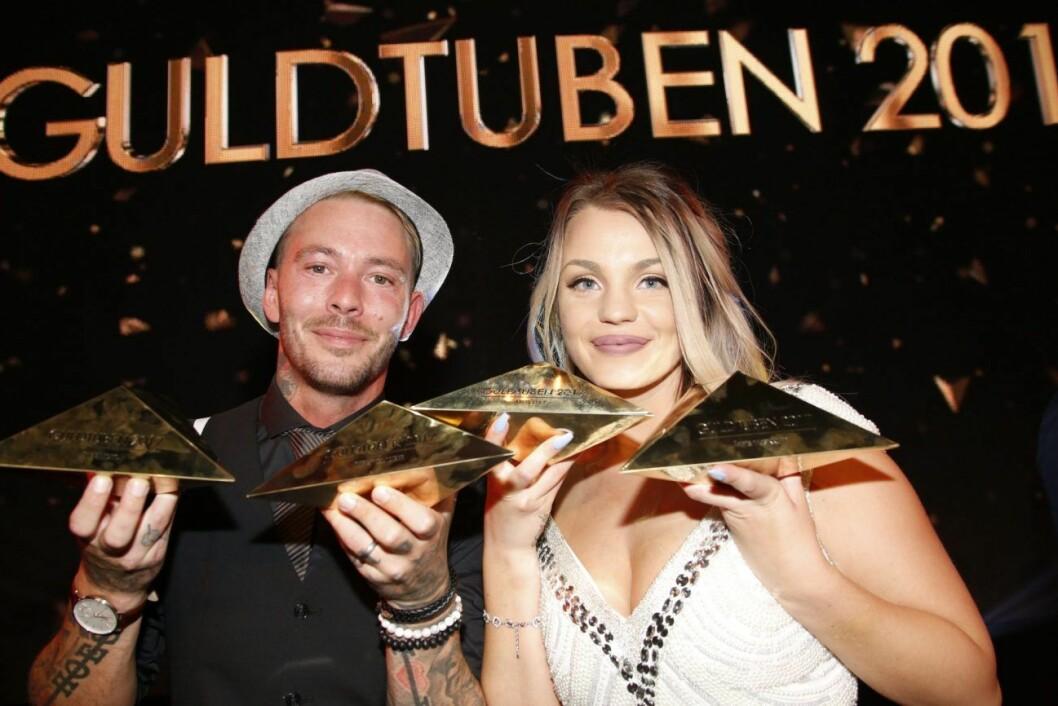 Joakim och Jonna Lundell under Guldtuben 2017.