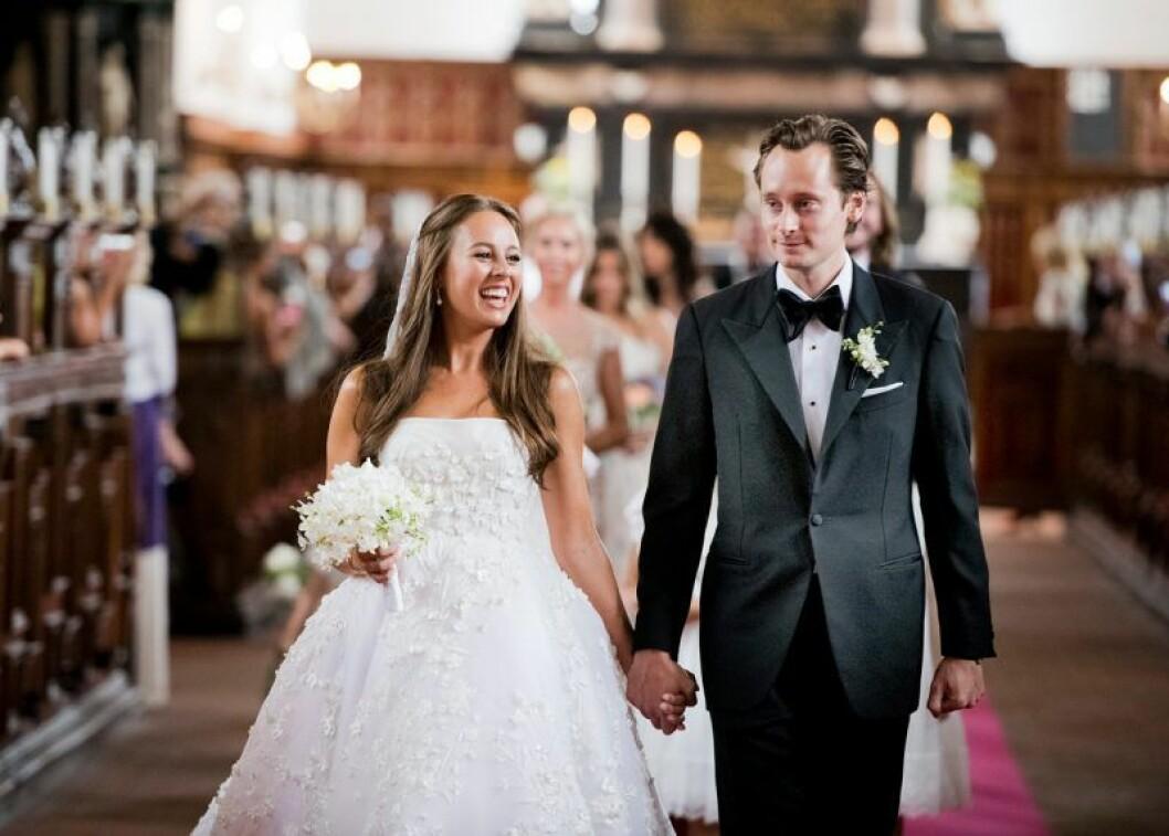John Ledin och Alexandra Hamilton på sitt bröllop