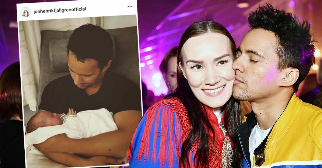 Jon Henrik Fjällgren och Maret Nystad har blivit föräldrar.