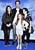 Jonas Karlsson med sina barn Julia, Cecilia och Sofia