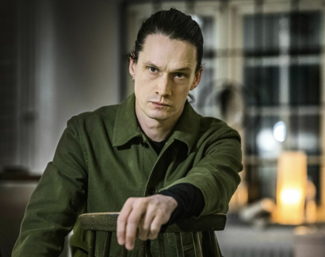 Jonathan Johansson i grön skjorta