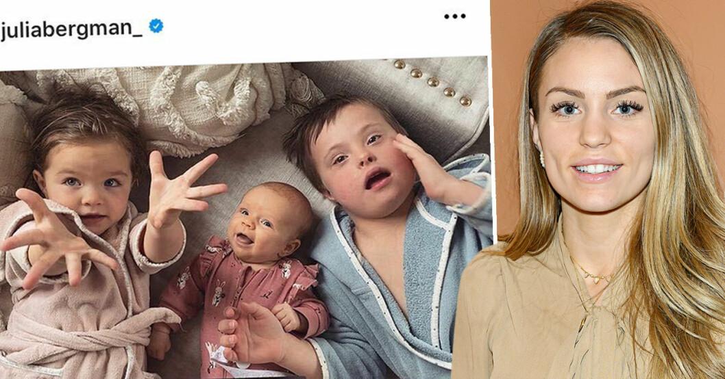 Julia Bergman med barn