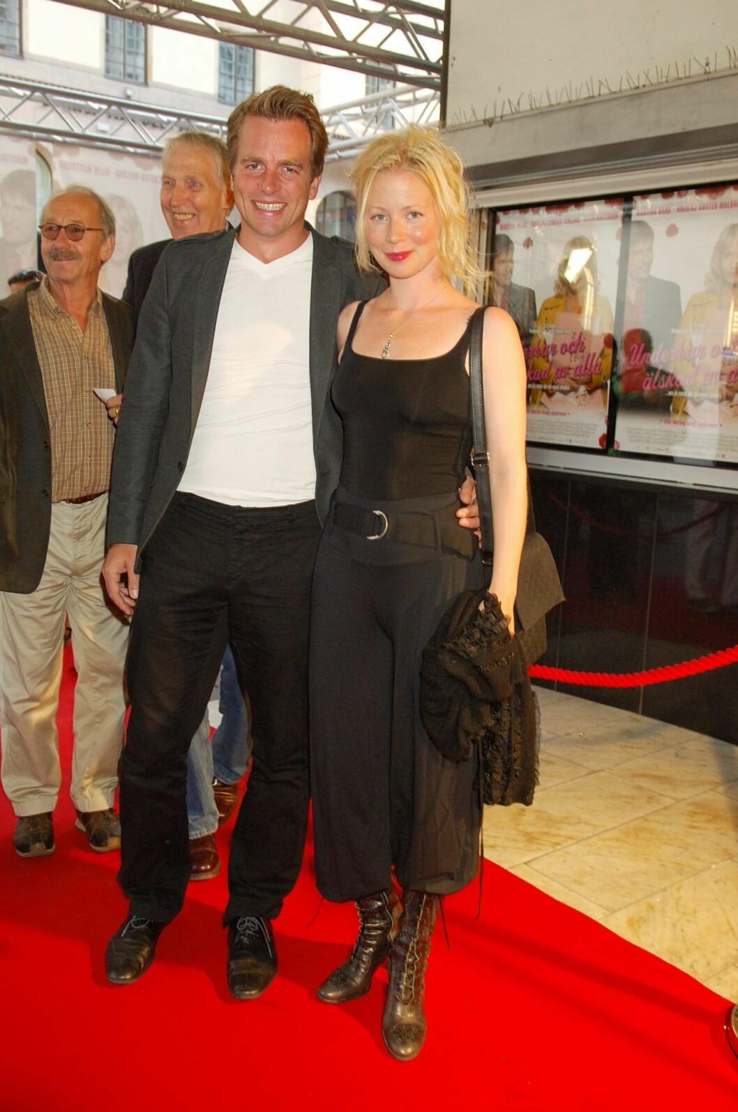 Julia Dufvenius och Christoffer Wollter på röda mattan