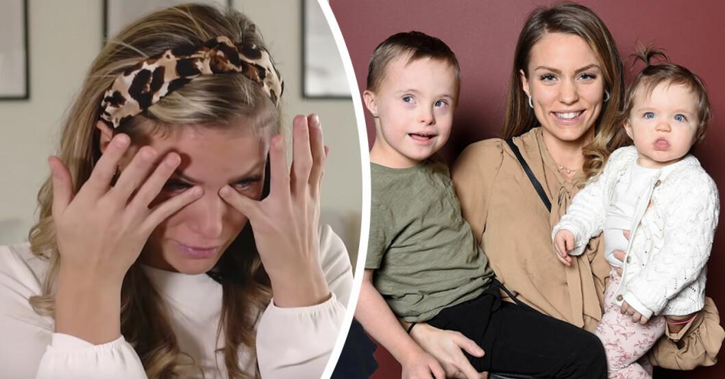 """Julia Bergman i tårar efter insikten med barnen Milan och Zelda: """"Vet inte hur jag ska förklara"""""""