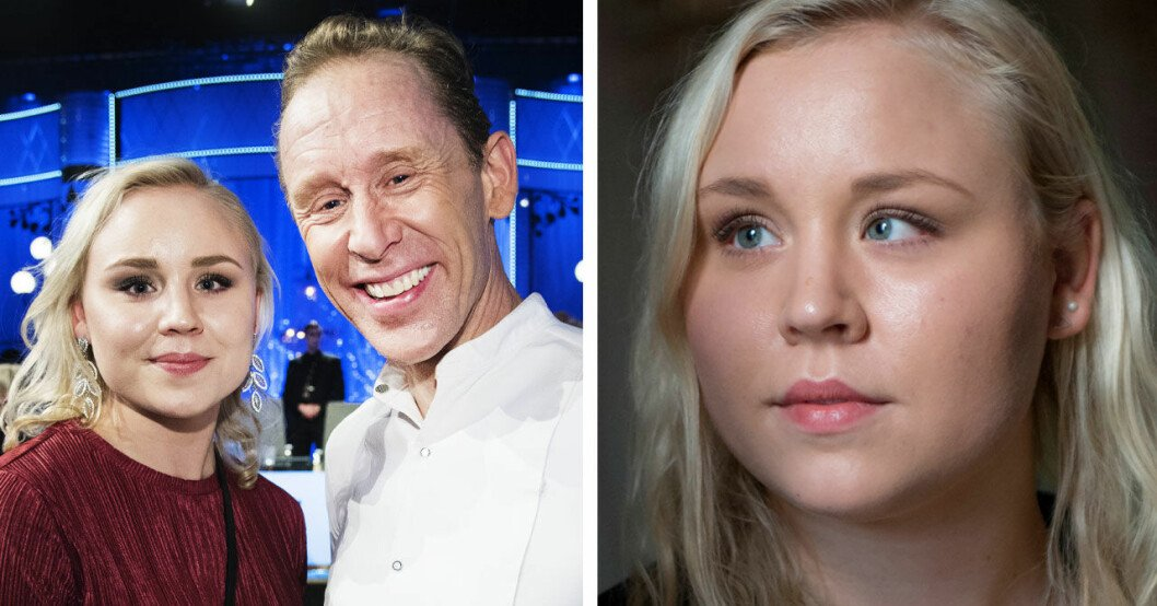 Gunde Svan och dottern Julia Svan