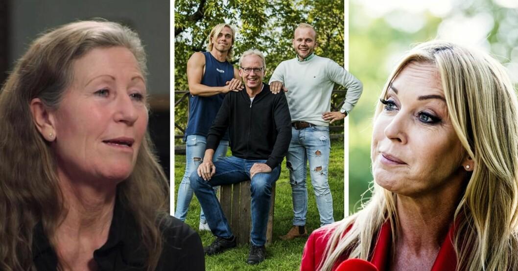 Mia Sandberg, Bönderna i Kärlek åt alla och Linda Lindroff