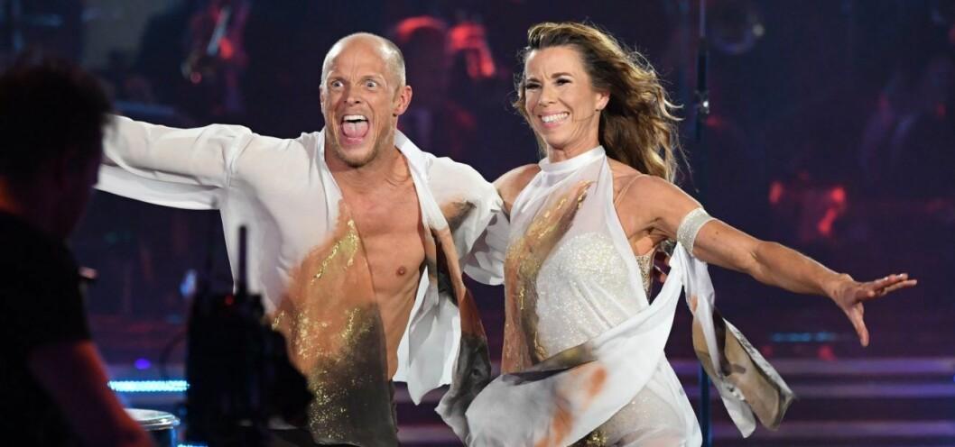 Tobias Karlsson och Magdalena Forsberg var med i Let's dance 2019