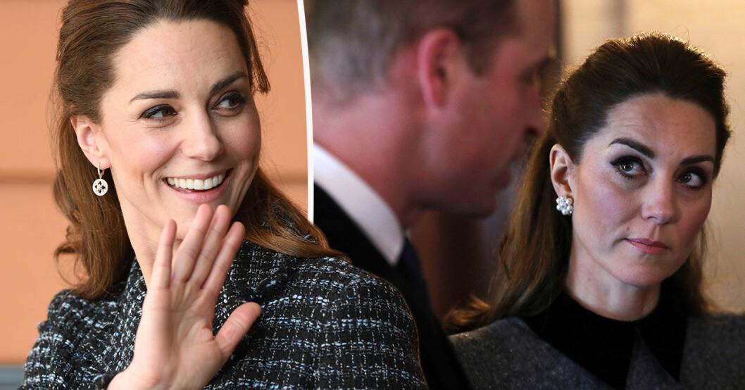 Kate Middleton bar inte sin förlovningsring vid ett officiellt besök.