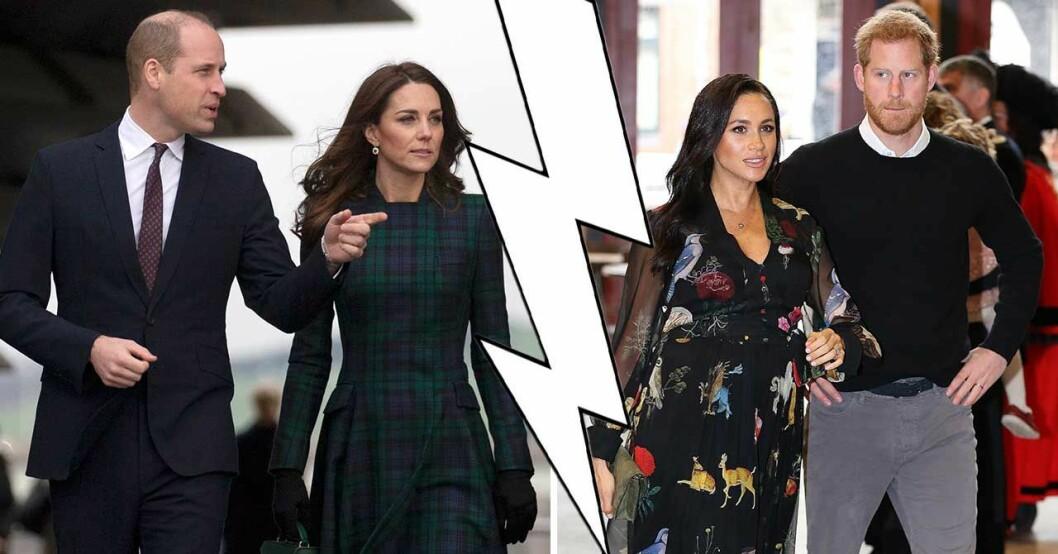 Meghan Markle, prins Harry, prins William och Kate Middleton