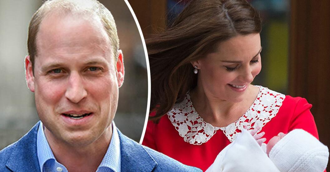 Kate och Williams första ord efter förlossningen