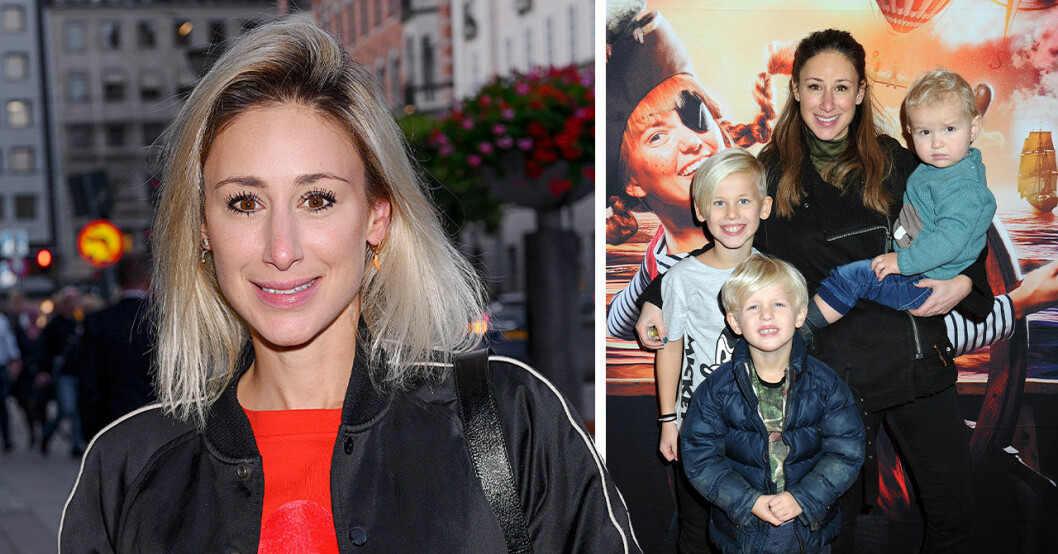 Katrin Zytomierska och barnen