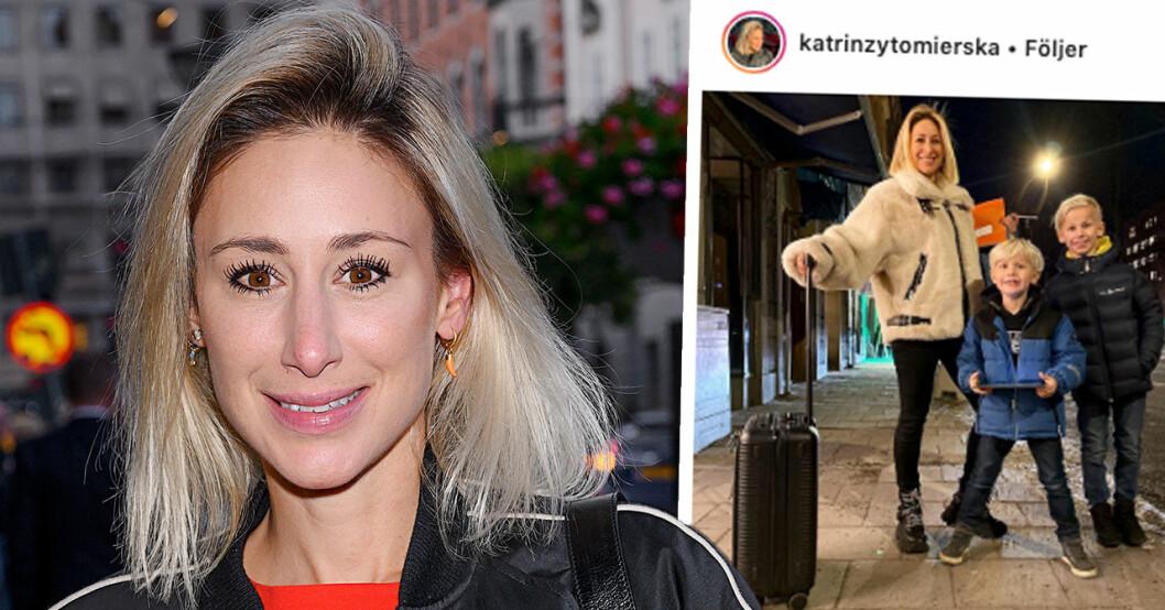 """Katrin Zytomierska i tårar efter stora händelsen med sonen: """"Så lycklig"""""""
