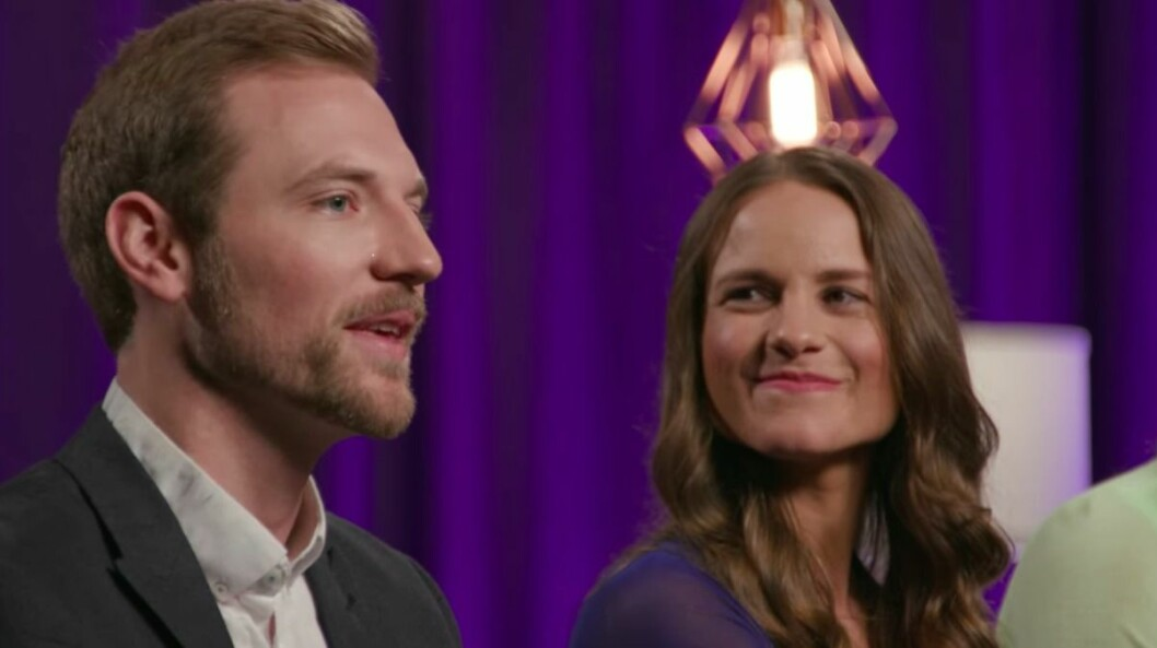 Kelly Chase och Kenny Barnes i Love is blind – The Reunion.