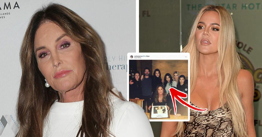 Därför var inte Khloé Kardashian med på Caitlyn Jenners 70-årsdag