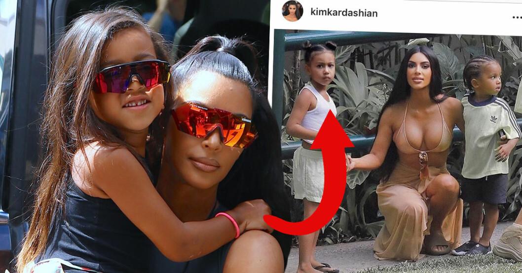Kim Kardashian anklagas för att ha photoshopat 5-åriga dottern North smalare på Instagram.