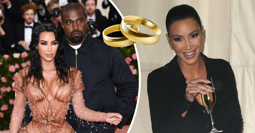 Kim kardashian och kanye west gifter om sig