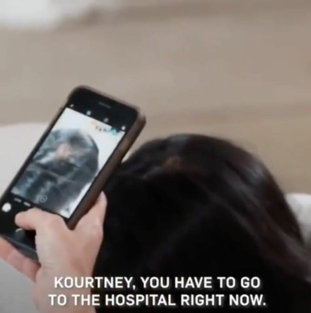 Kourtney kardashian tappar hår