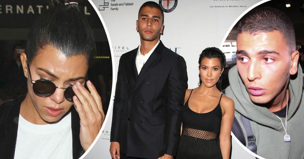Kourtney Kardashians tidigare pojkvän Younes Bendjima har fångats på fil under en het krogfight.