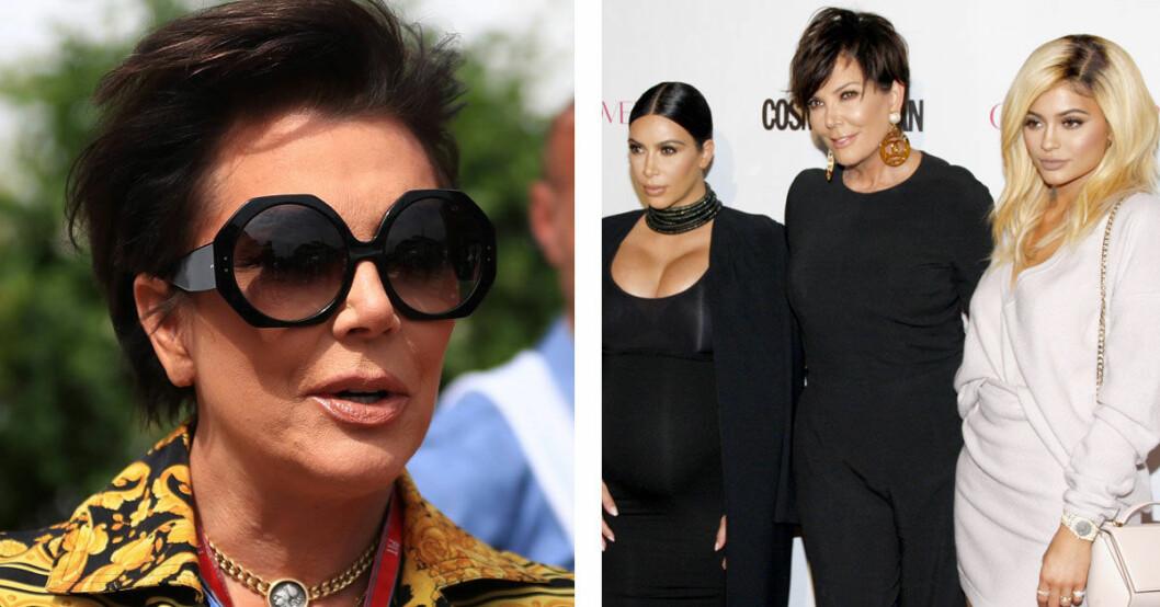 Kris Jenner har solglasögon