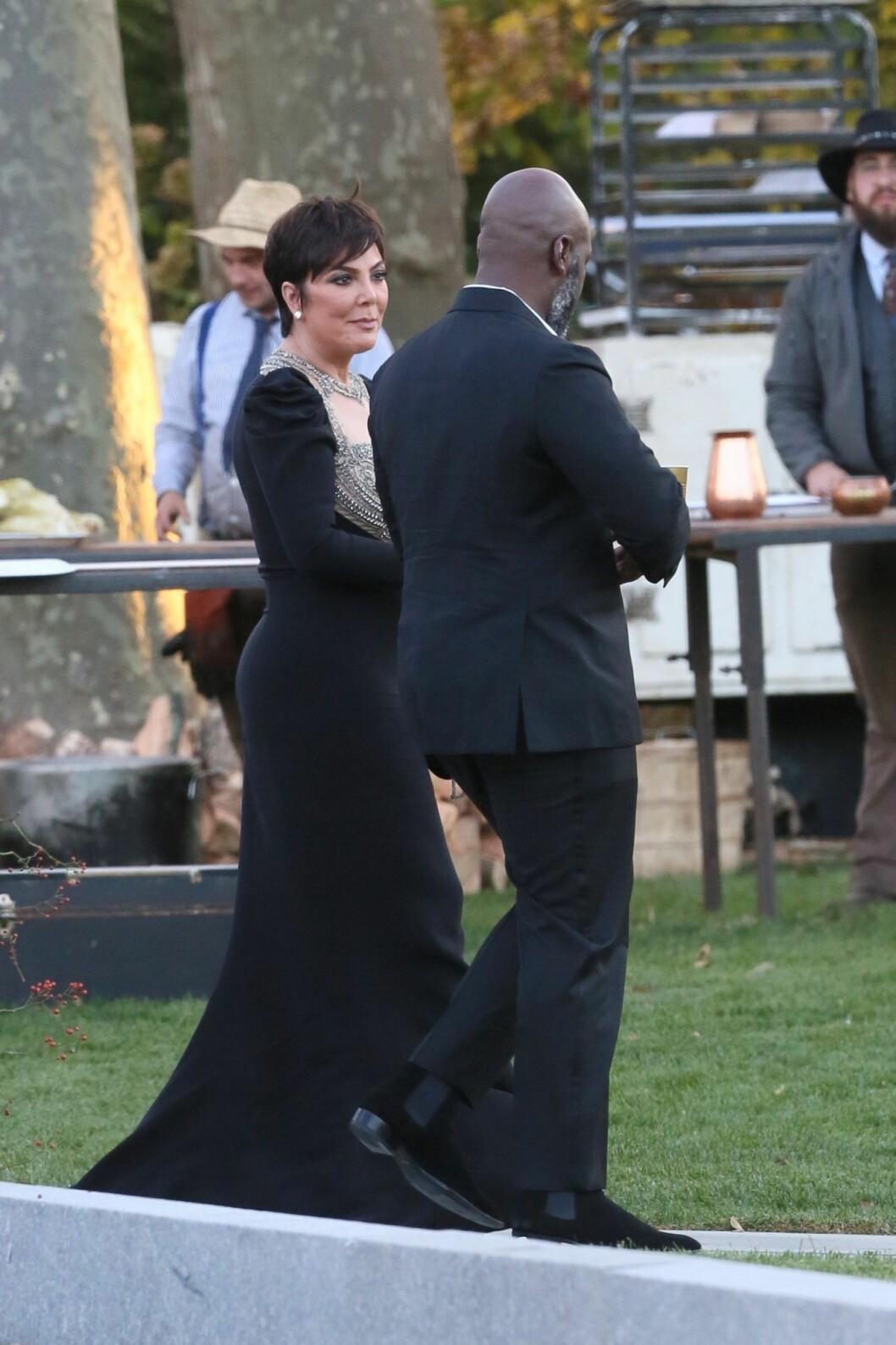 Kris Jenner på Jennifer Lawrence bröllop
